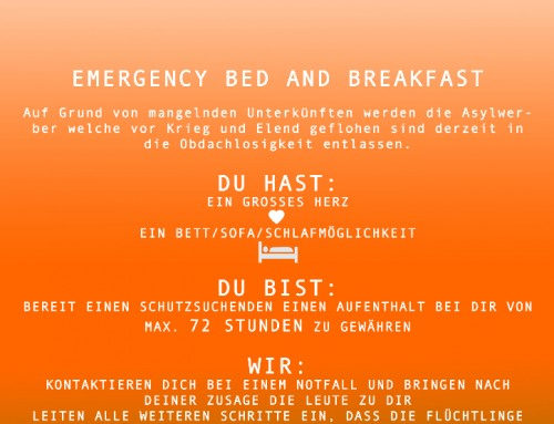 Emergency Bed and Breakfast